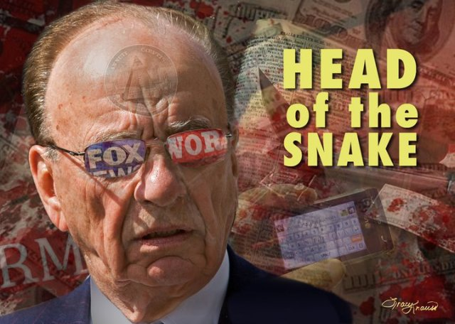 MEDIA FOX RUPERT MURDOCH AUSTRALIAN SMUT PBLISHER - Head Of The Snake
