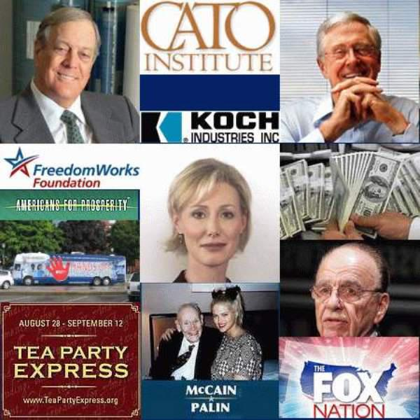 CORP WOLF PAC KOCH CATO INST FREEDOM WORKS AMERICANS FOR PROSPERITY Tea Party Express FOX Nation