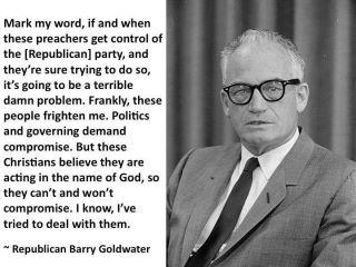 PF BARRY GOLDWATER Warning About Preachers Getting GOP (2)