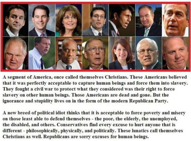 101DSSR_ GOP BC  POLITICS & MEDIA - A new breed of political idiot thinks that it is acceptable to force poverty & misery on those least able to defend themselves -poor, elderly, unemployed,  disabled