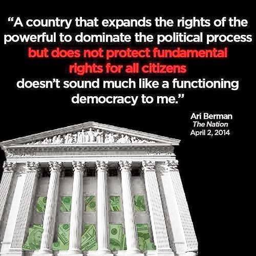 ARI BERMAN-A country that expands the rights of the powerful to dominate the political process but does not protect fundamental rights of citizens doesn't sound much like a functioning democracy to me.