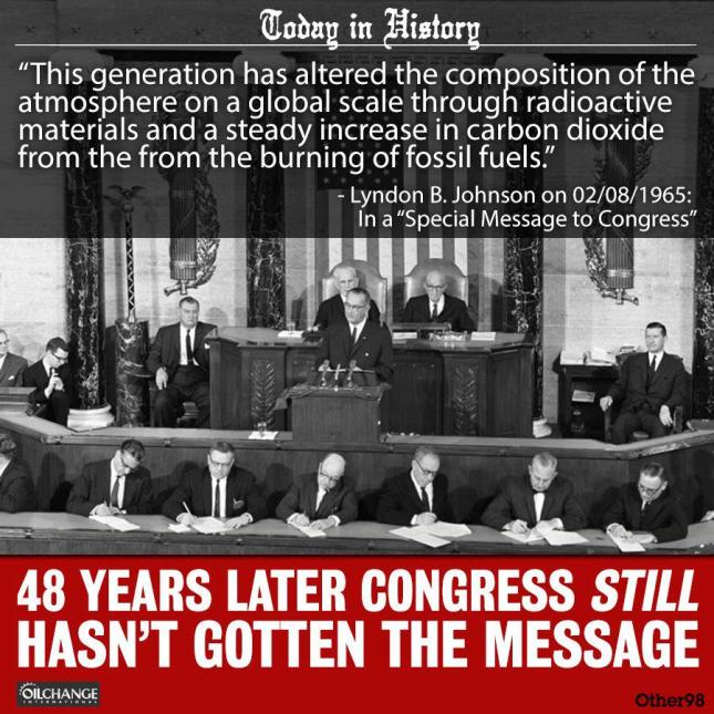 ENV CLIMATE CHANGE 1965 LBJ