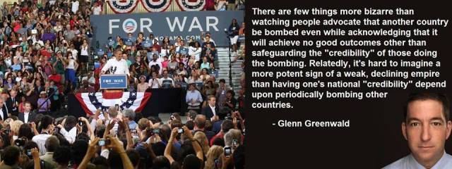 MEDIA GLEN GREENWALD - Declining Empire - Need to Bomb a Country to prove something