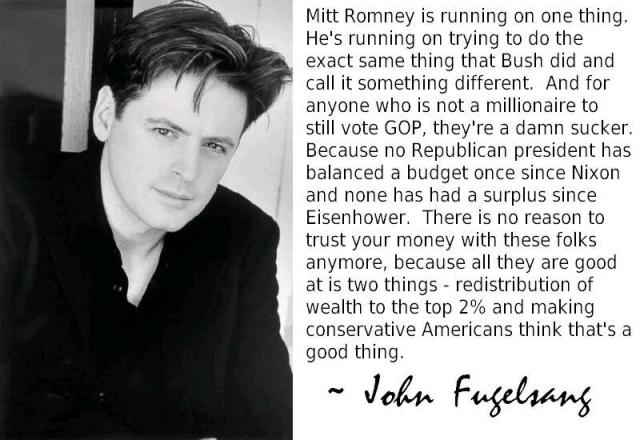 MEDIA RADIO JOHN FUGELSANG ~ And anyone who is not a millionaire to still vote GOP, they're a damn sucker. Because no R POTUS has balanced a budget since Nixon ..surplus since Eisenhower. ...to top 2%