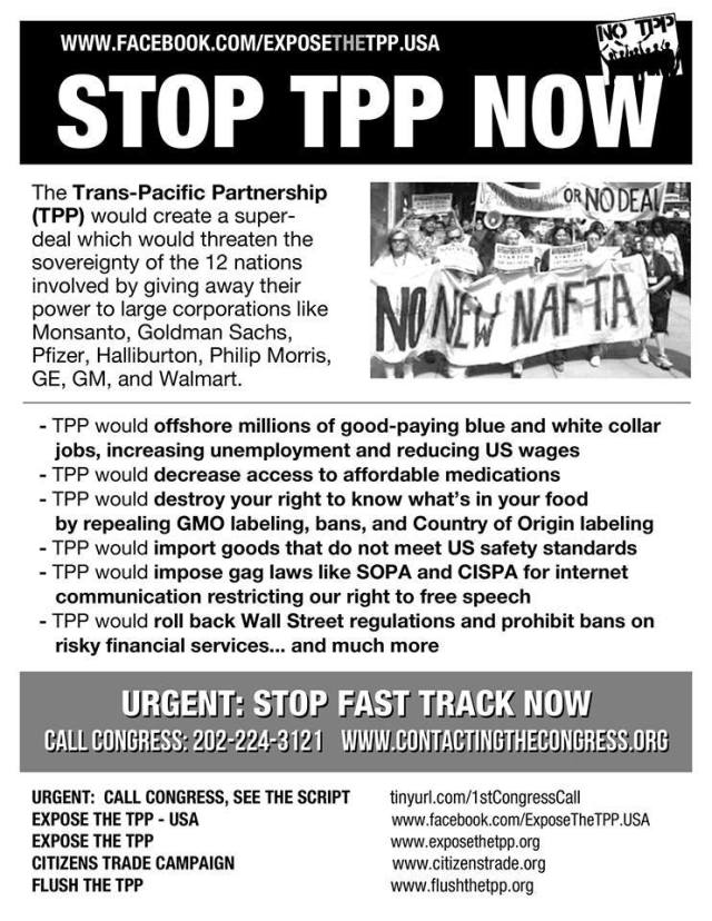 UNION TPP STOP the TPP NOW
