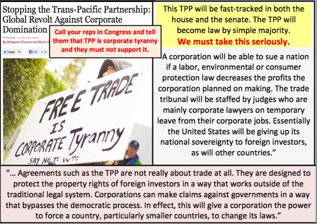 UNION TPP TRANS PACIFIC PARTNERSHIP - FREE TRADE IS Corporate Tyrany (2)