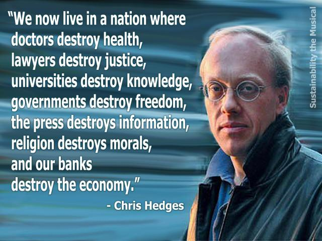 WHISTLE BLOWER CHRIS HEDGES - Freedom