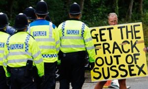 Anti-fracking demonstrator