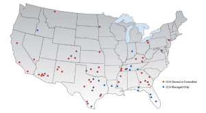 CORP PRIVATE PRISON -  CORRECTIONS CORPORATION OF AMERICA - Map of Owned & Managed Prisons in U.S. (2)