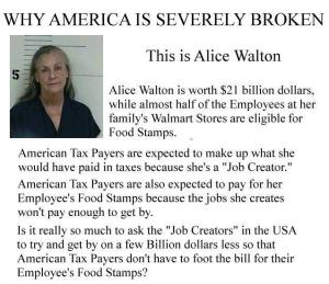 CORP WOLF PAC WALMART Alice Walton w Saying