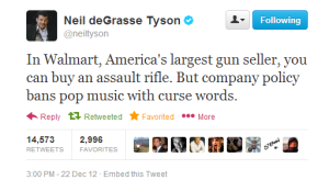 CORP WOLF PAC WALMART Gun Sales Assult Weapons Sold - But Not Music With Curse Words