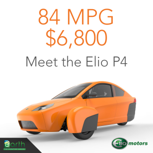 ENV CAR ELIO 84 MPG $6800