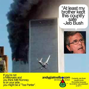 ST FL JEB BUSH CONVENTION My Brother Kept Country Save w Twin Towers In Flames