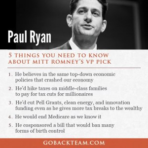 ST WI PAUL RYAN 5 things you need to know - likes trickle-down economics, hike middle class taxes, cut pell grants, clean energy, 7 innovation, end Medicare, ban many forms of birth control