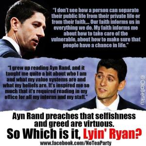 ST WI PAUL RYAN Ayn Rand Quotes From PR - Duplex Pic