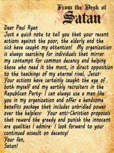 ST WI PAUL RYAN LETTER FROM SATAN