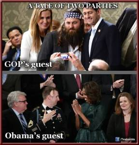 ST WI PAUL RYAN & Willie from Duck Dynasty Taking A Selfie At State Of The Union Address Republican Family Values Priceless