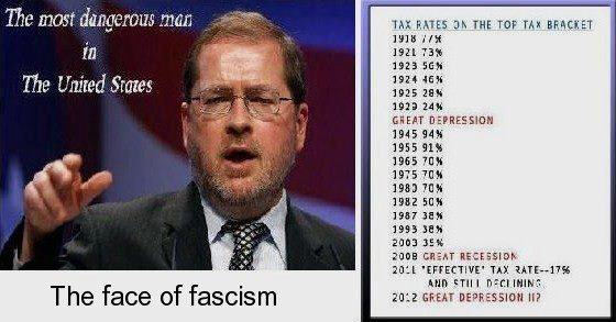 CORP WOLF PAC AMERICANS For TAX REFORM  GROVER NORQUIST -GRAPH Tax Rates Depression - Recession 2009
