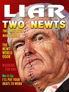 GOPC NEWT GINGRICH Liar Zipper Head