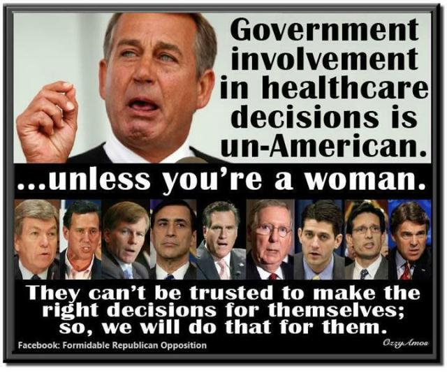 ST AR PP WOMENS RIGHTS GOP Cont be trusted to made the right decisions for themselves so we will do that for them