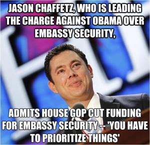 ST UT PP GOP CHAFFETZ Cut Funding for Embassy Security - you have to prioritize things