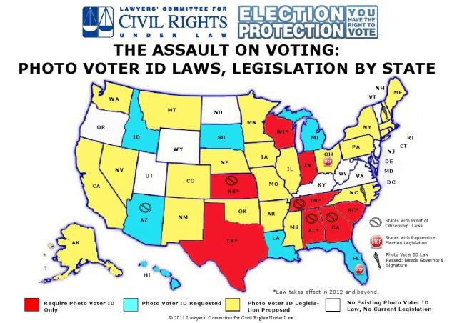 101_ GOP BC -- ELECTION FRAUD - GOP - Assault On Voting Map Voter ID Legislation - Revised 06-22-11