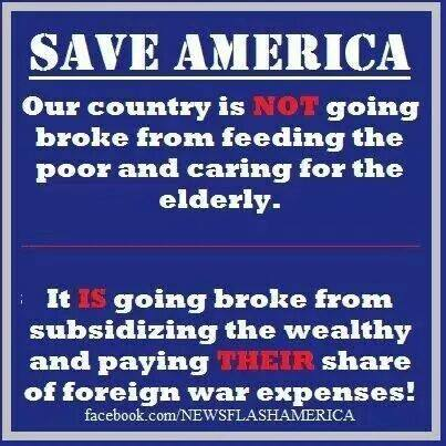 CLASS WARFARE AMERICA GOING BROKE from paying the taxes of Rich and Corp's