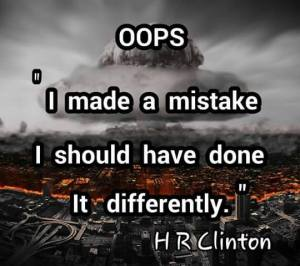 000000_ ST NY HILLARY CLINTON OOPS I Should have done it differently