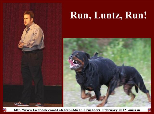101_ MEDIA STRATEGIST FRANK LUNTZ GOP Strategist chased by Rotweilers