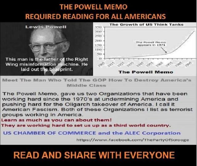POTUS 37 NIXON Louis Powell Memo