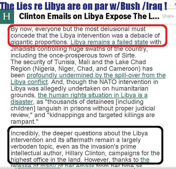 ST NY HILLARY CLINTON Libya Debacle
