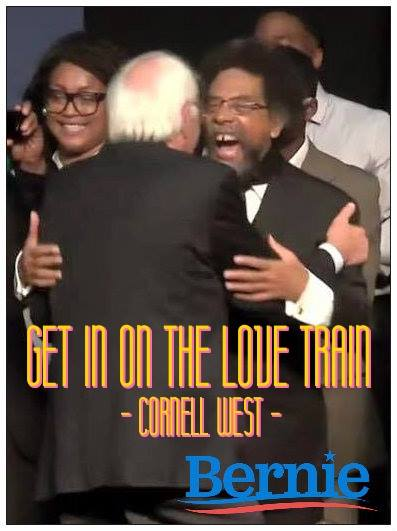 ST VT BERNIE SANDERS And Cornel West - Get on the love train