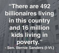 ST VT VERNIE SANDERS INCOME INEQULITY BILLIONAIRES AND POVERTY