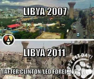zST NY HILLARY CLINTON Libya 2007 - 2011 bombed out