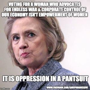 0001G_ WAR - ST NY HILLARY CLINTON Oppression in a pantsuit