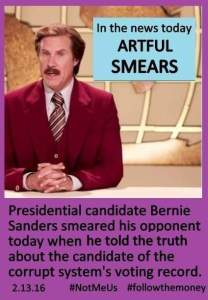 0001Y_ ELECTABILITY - ST NY HILLARY CLINTON Artful Smears - What Clinton poople think when Bernie Tells the Truth