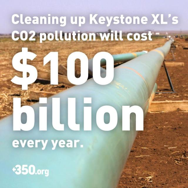 0002KXLa_ CORP OIL KEYSTONE XL Pipeline - Cost $100 Billion per year to clean up