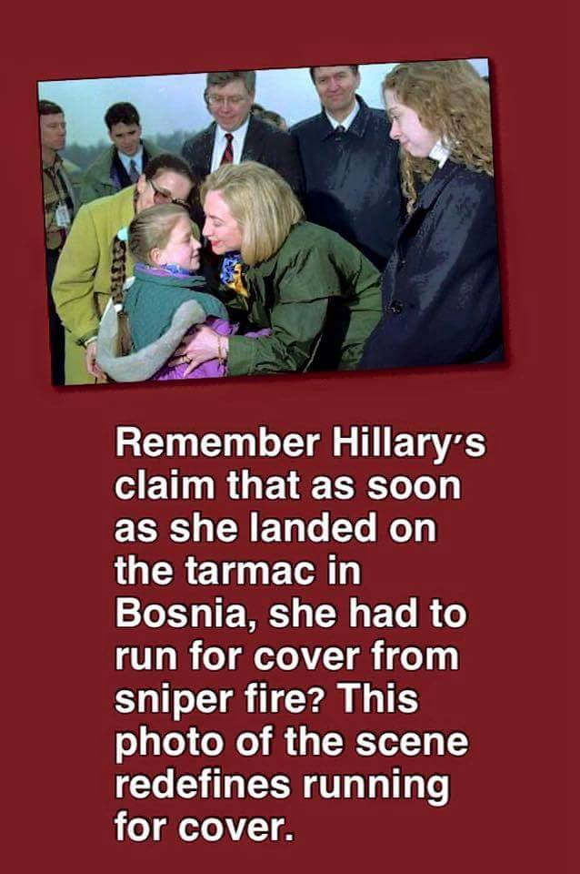 0003E_ WAR LIAR - ST NY HILLARY CLINTON BOSNIA PLANE LANDING Lie