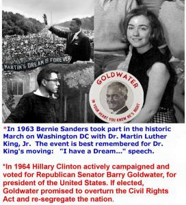 0003NN_ BLM ST VT BERNIE SWNDERS vs. Hillary Clinton Social Movement MLK vs. Barry Goldwater