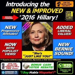 0004E_ FLIP FLOPS - ST NY HILLARY CLINTON Just like Bernie