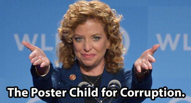 0004H_ ST FL DEBBIE WASSERMAN SCHULTZ Poster Child for Corruption