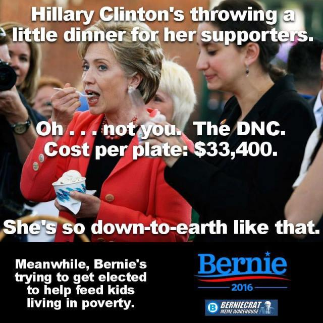 0004N_ ONE PERCENT CANDIDATE - ST NY HILLARY CLINTON FUNDRAISER DINNER $33,400
