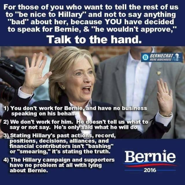 0004O_ ST VT BERNIE SANDERS Bashing Hillary