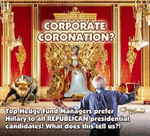 0005L_ BANK - HEDGE FUNDS - ST NY HILLARY CLINTON Top Hedge Fund Managers prefer Hillary Clinton to any of the R Alt