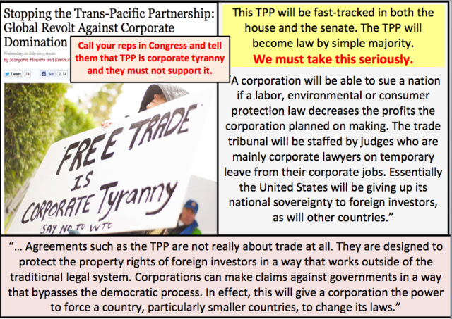UNION TPP TRANS PACIFIC PARTNERSHIP - FREE TRADE IS Corporate Tyrany (2)