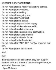 000T_ ST NY HILLARY CLINTON List of Reasons I'm not voting for her