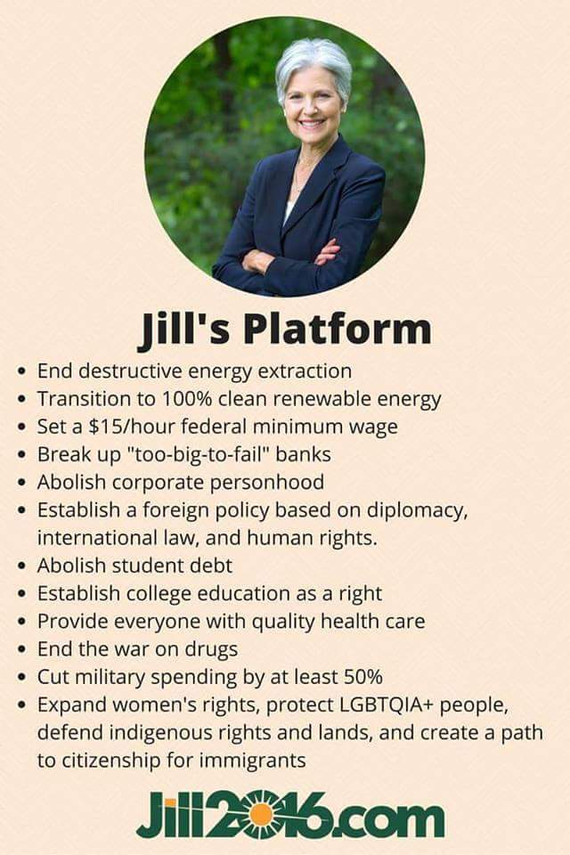 GREEN PARTY Jill Stein PLATFORM