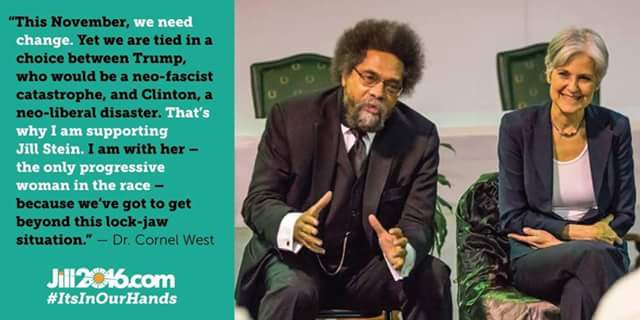 Green Party Jill Stein w Cornel West