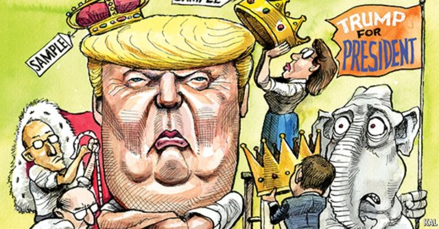ST NY DONALD TRUMP King Cartoon